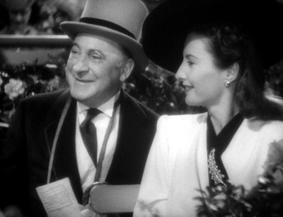Eric Blore, Barbara Stanwyck in The Lady Eve