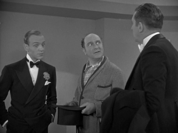 Fred Astaire, Eric Blore, Edward Everett Horton in Top Hat