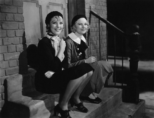 Loretta Young and Una Merkel in Midnight Mary