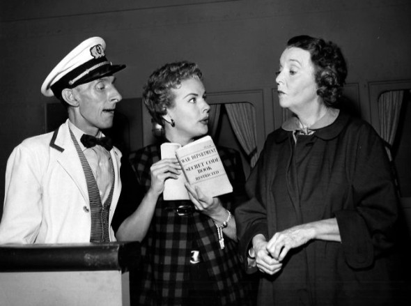 "Jimmy Fairfax, Gale Storm, and Pitts in ""The Gale Storm Show"""