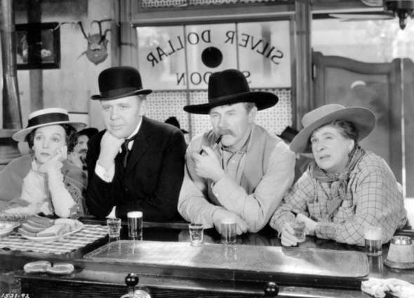 "Pitts, Charles Laughton, Charlie Ruggles, and Maude Eburne in ""Ruggles of Red Gap"" (1935)"