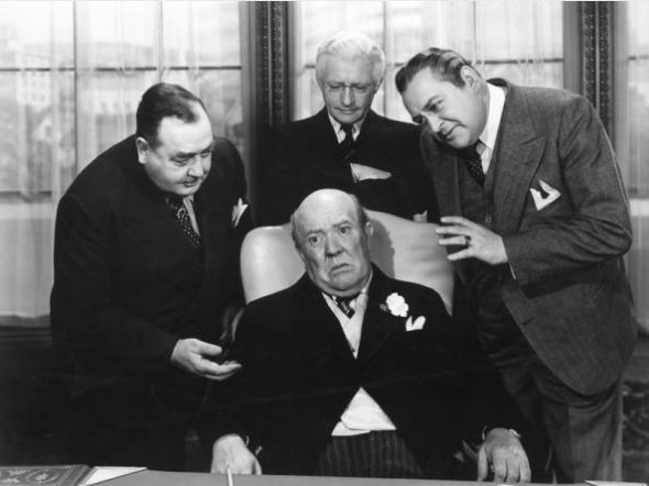 "with Eugene Pallette, Claude Rains, and Edward Arnold in ""Mr. Smith Goes to Washington"""