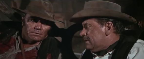 Ernest Borgnine as Dutch and William Holden as Pike