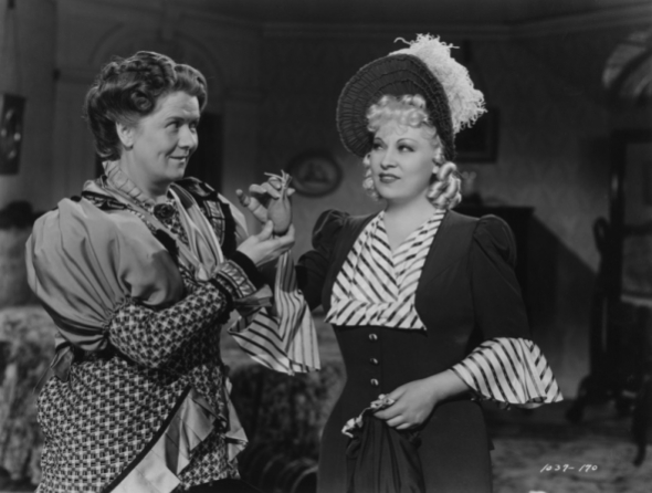 "with Mae West in ""My Little Chickadee"""