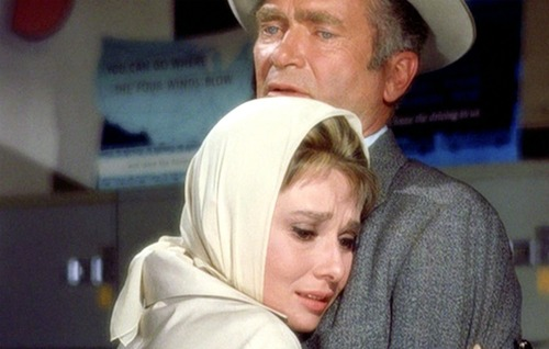 "Audrey Hepburn and Buddy in ""Breakfast at Tiffany's"""
