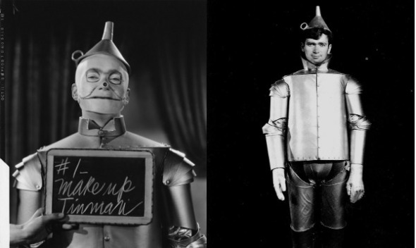 Buddy in Tin Man makeup and costume tests