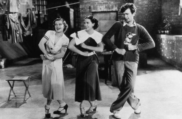 "Vilma Ebsen, Eleanor Powell, and Buddy in ""Broadway Melody of 1936"""