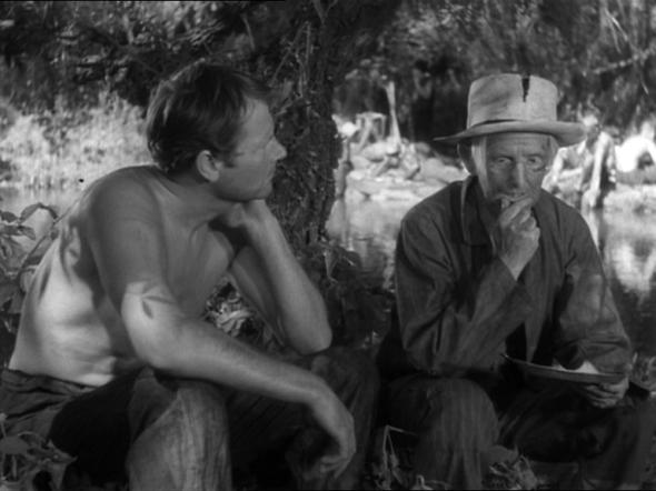 "Joel McCrea and Jimmy in ""Sullivan's Travels"" (1941)"