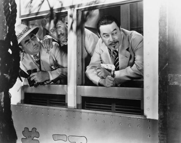 Eugene Pallette, Lawrence Grant, and Warner Oland