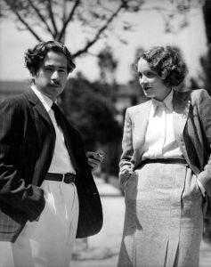 Josef von Sternberg and Marlene Dietrich
