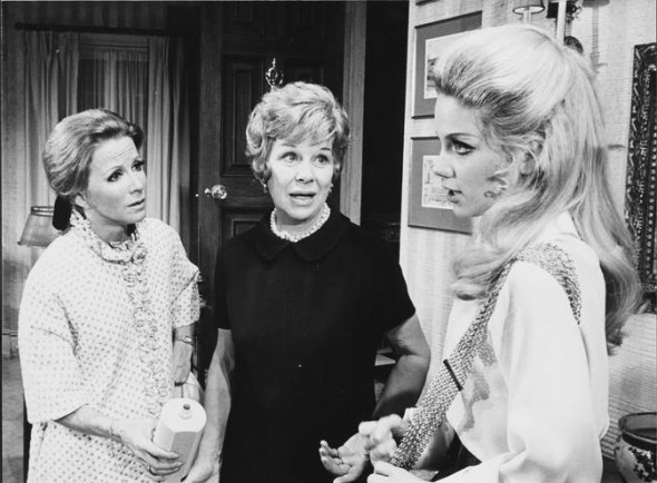 "Julie Harris, Glenda, and Maud Hayes in ""Forty Carats"""