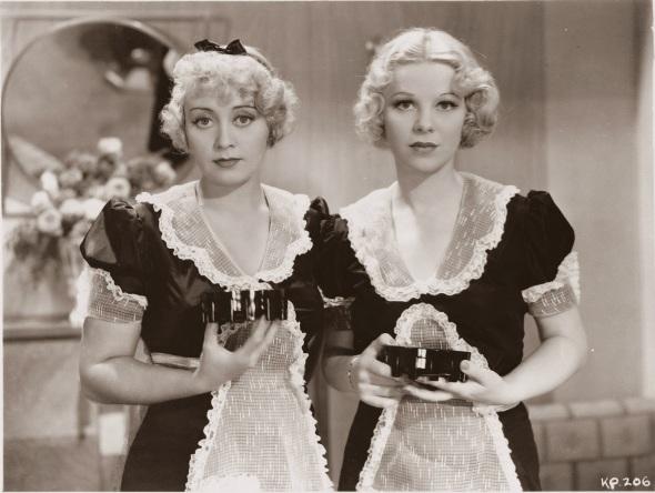 "Joan Blondell and Glenda in ""Kansas City Princess"""