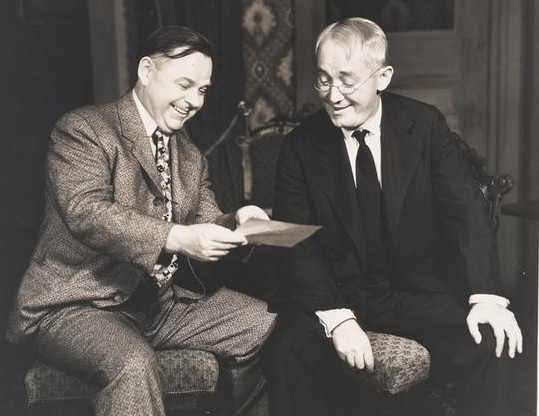 "Gene and George M. Cohan in ""Ah, Wilderness"""