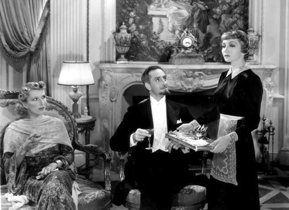 Heather Thatcher as Lady Kartegann and Basil Rathbone as Gorotchenko