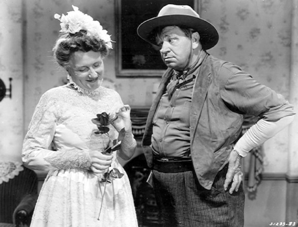 "Marjorie and Wallace Beery in ""Jackass Mail"" (1942)"