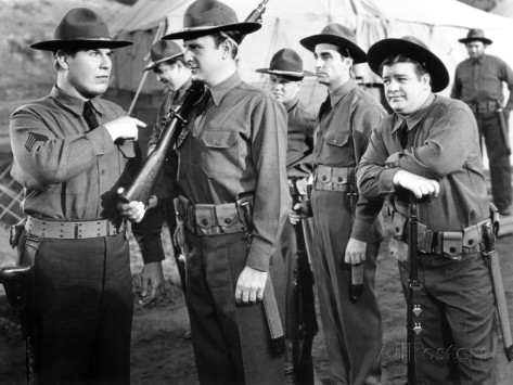 "Nat with Bud Abbott and Lou Costello in ""Buck Privates"""
