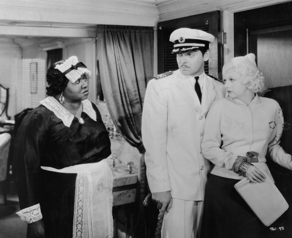 "Hattie with Clark Gable and Jean Harlow in ""China Seas"" (1935)"