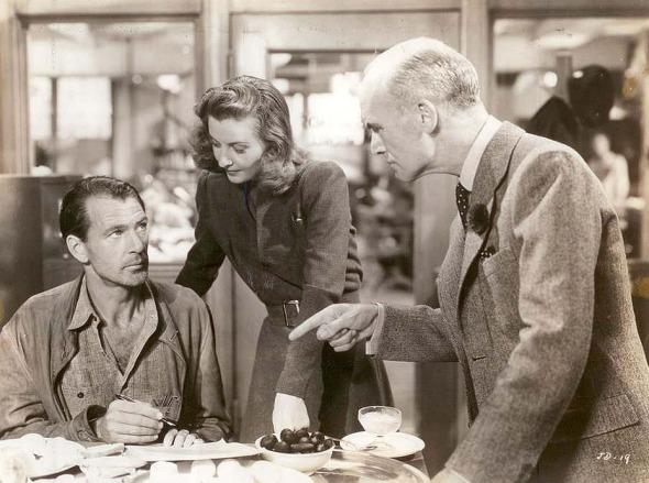 "Gary Cooper, Barbara Stanwyck, and James in ""Meet John Doe"""