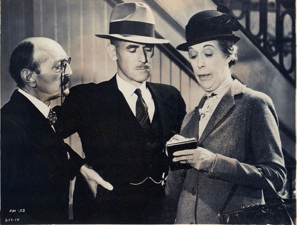 "Clarence Wilson, James, and Edna May Oliver in ""The Penguin Pool Murder"""