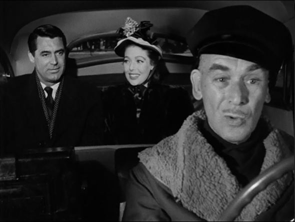 "Cary Grant, Loretta Young, and James in ""The Bishop's Wife"""