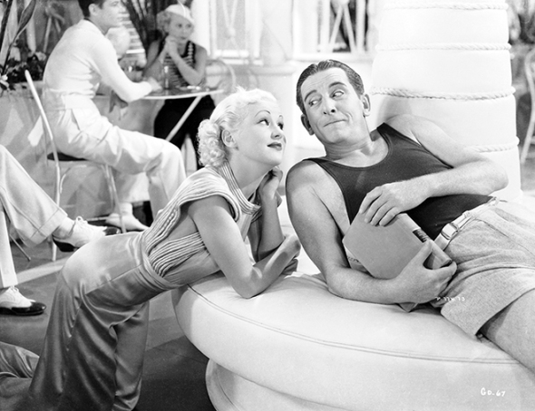 Betty Grable and Edward Everett Horton about to K-nock K-nees