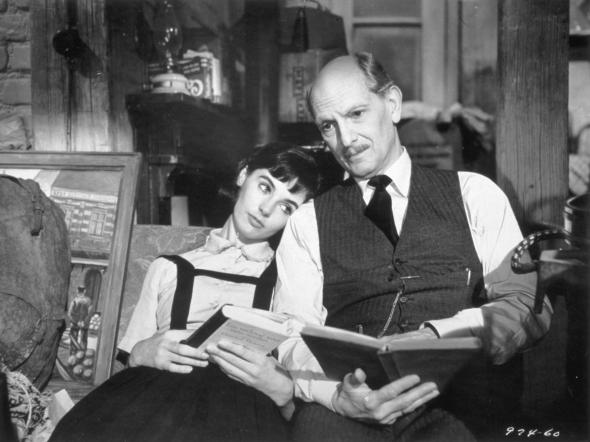 "Millie Perkins and Joseph in ""The Diary of Anne Frank"" (1959)"